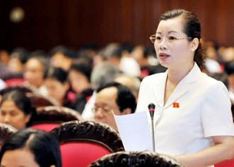 Đai biểu Quốc hội  Đỗ Thị Huyền Tâm  vợ tương lại của cưu TBT Nông Đức Mạnh