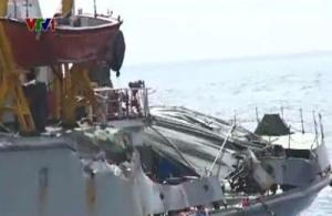 Ngày 23/6: Tàu Kiểm ngư 951 bị tàu Trung Quốc đâm va, gây biến dạng. Nguồn: vtv.vn