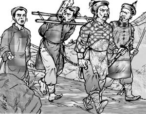 Nguyễn Trãi từ biệt cha Nguyễn Phi Khanh, về phò Lê diệt Minh