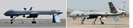 Predator MQ-1B (trái) và MQ-9 Reaper