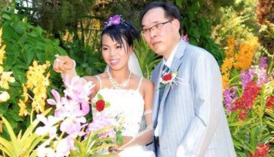 Đám cưới của cô gái Việt lấy chồng Hàn Quốc. (Hình: báo vnexpress.net)