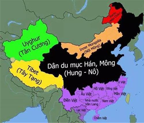 Bản đồ cổ của Trung Cộng 2000 năm trước