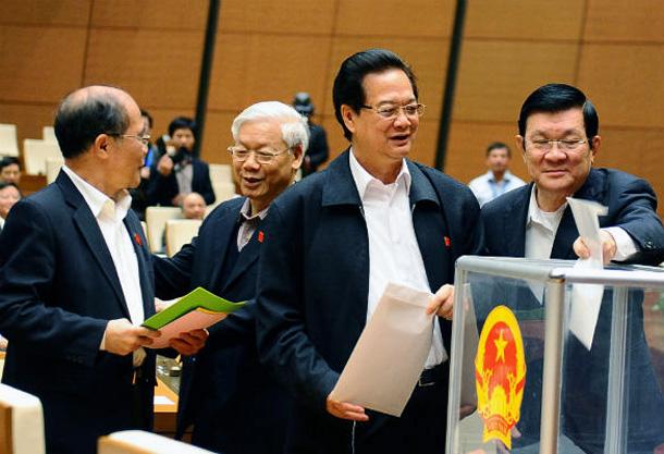 Các quan chức lãnh đạo nhà nước tham gia bỏ phiếu tín nhiệm (15 tháng 11, 2014)