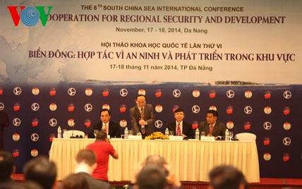 Hội thảo về Biển Đông tại Đà Nẵng ngày 17/11/2014.