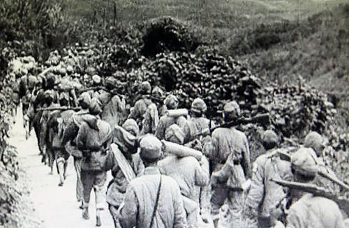Quân đội Giải phóng Nhân dân Trung Quốc đang trên lộ trình tiến đến tỉnh Thái Nguyên Việt Nam, tất cả theo lệnh của Hồ Chí Minh, đã phối trí địa chỉ mật cho quân trú phòng, theo mật mã. Nguồn: Hoa Nam..