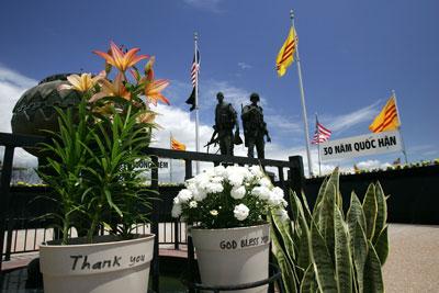 Tượng Đài Chiến Sĩ Việt Mỹ, nơi tưởng niệm các binh sĩ VNCH và Hoa Kỳ hy sinh trong cuộc chiến Việt Nam. (Hình minh họa: David McNew/Getty Images)