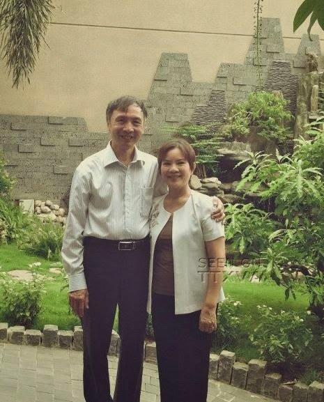 Ông Vũ Chí Kiên, bà Nguyễn Thị Ái Xuân và một góc trong biệt thự nhà thờ họ của Phó Thủ tướng Nguyễn Xuân Phúc tại Đà Nẵng