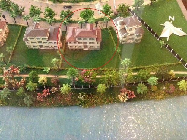 Vị trí căn biệt thự tại khu biệt thự lâu đài Chateau Phú Mỹ Hưng được Phùng Quang Hải mua với giá 82,5 tỷ đồng