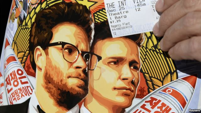 """Áp phích phim """"The Interview"""" với diễn viên Seth Rogen và James Franco."""