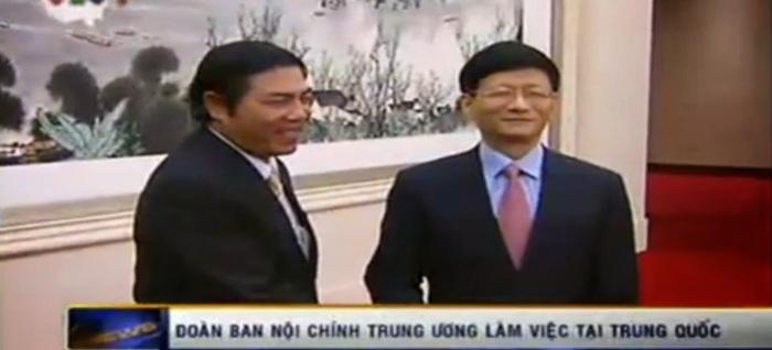 Trưởng ban Nội chính Nguyễn Bá Thanh tại Bắc Kinh, Trung Quốc ngày 16/12/2013