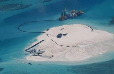 Vùng đảo Gạc Ma nhìn từ trên cao, ảnh minh họa chụp hôm 15/5/2014.