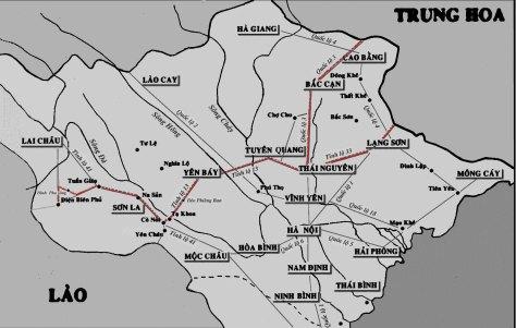 Sơ đồ tuyến đường vận chuyển của Mao Trạch Đông