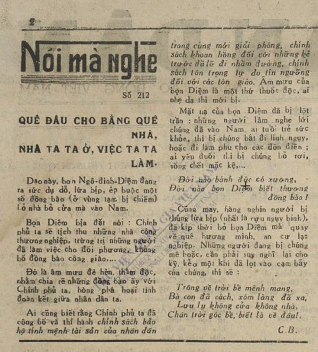 Một Trong Những Bài Báo Thể Hiện Sự Vô Liêm Sỹ Của Hồ Chí Minh