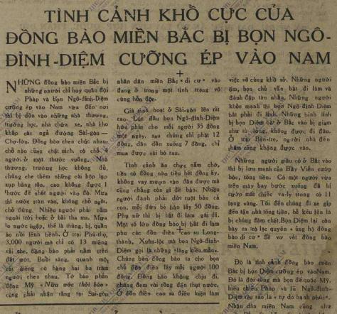 Thêm Một Trong Những Bài Báo Thể Hiện Sự Vô Liêm Sỹ Của Hồ Chí Minh