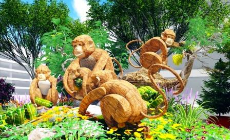 Năm nay đường hoa khỉ nhiều lắm