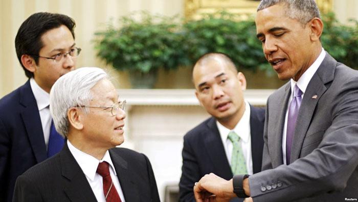 MỸ VỚI NGUYỄN PHÚ TRỌNG VÀ TPP