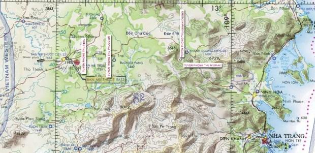 Bản đồ mặt trận Quốc lộ 21