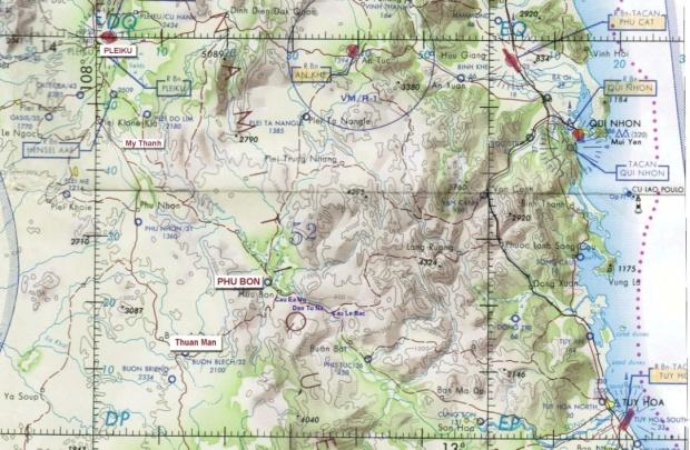 Bản đồ LTL.7 từ Pleiku đến Tuy Hòa