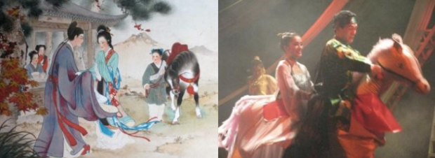 """Truyện ngày 30/4 Giải phóng - Sở Khanh giải cứu Thúy Kiều.  """"Rằng: Ta có ngựa truy phong, Có tên dưới trướng, vốn dòng kiện nhi."""""""