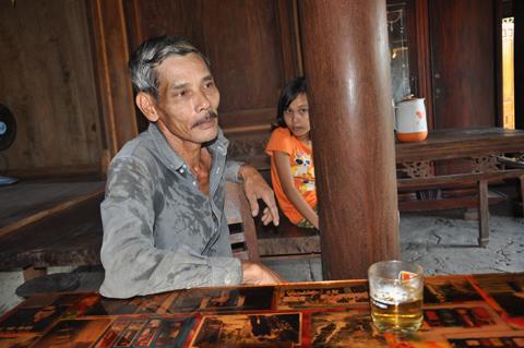 Lão nông Nguyễn Đình Hoan, người thừa kế đời thứ 4 ngôi nhà.