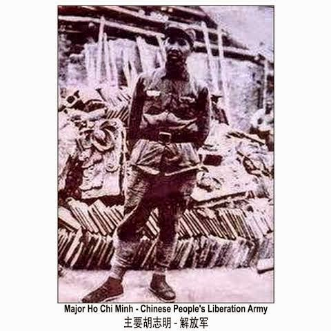 (Thiếu tá Hồ Chí Minh – Giải Phóng Quân)