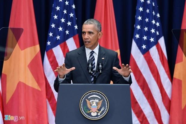 """""""Tôn trọng các quyền phổ quát sẽ giúp một quốc gia thành công"""". Ảnh: Hoang Hà/Zing."""