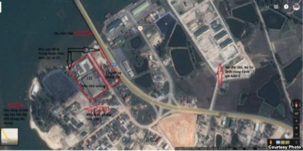 Khu vực đã bị Trung Quốc thâu tóm và các vị trí nhạy cảm về an ninh quốc phòng xung quanh