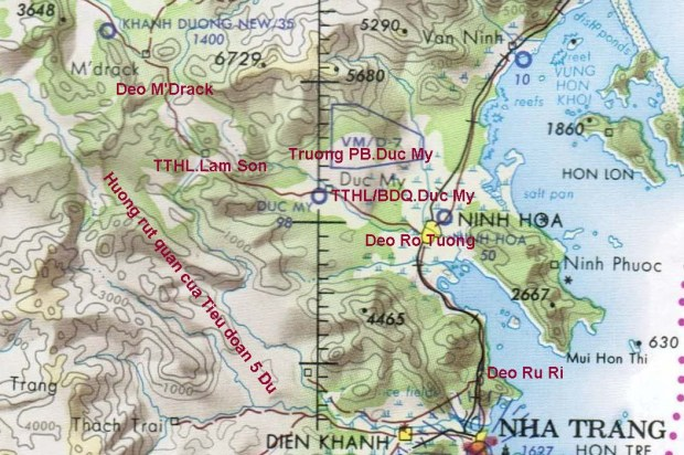 Bản đồ Quốc lộ 21, từ Khánh Dương đến Nha Trang