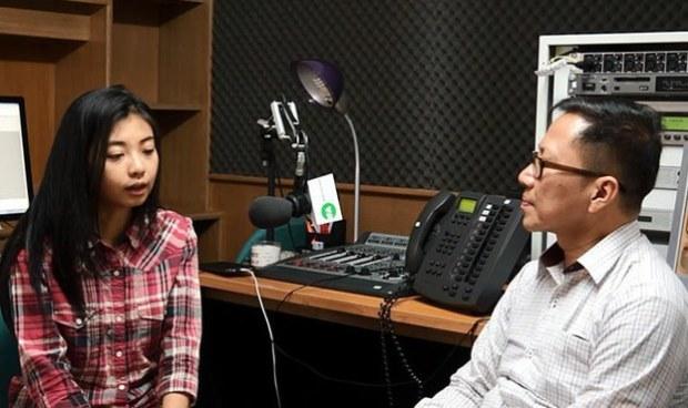 Nancy Nguyễn kể lại thời gian bị giam giữ và thẩm vấn bởi an ninh Việt Nam với phóng viên Gia Minh Đài Á Châu Tự Do. RFA PHOTO